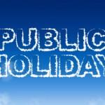 NO Training Monday 25th September - Public Holiday