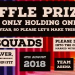 Raffle Prizes 4th August 2018