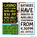 ASC Bathers and Casino Tickets